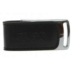 Chrome Leather Flash Drives With Branding