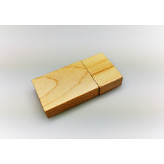 Branded Rectangular Wood USB