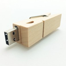 Wooden Peg USB